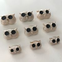 Rose Gold Metal Effect Owl Head Shank Buttons - 3 sizes