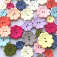 8 Petal Flower Shaped Buttons - 3 sizes