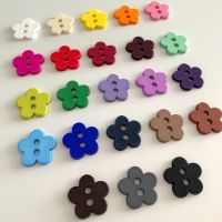 Matte Flower Buttons - 23 colours
