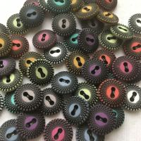 Spiral Pattern Buttons - 9 Colours