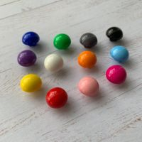 11mm Half Ball Shank Buttons - 12 colours