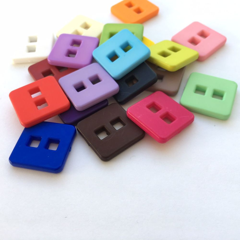 Matte square buttons- 19 colours