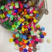 Mixed Daisy Flower Button Bundle - 2 Sizes - 48 Buttons
