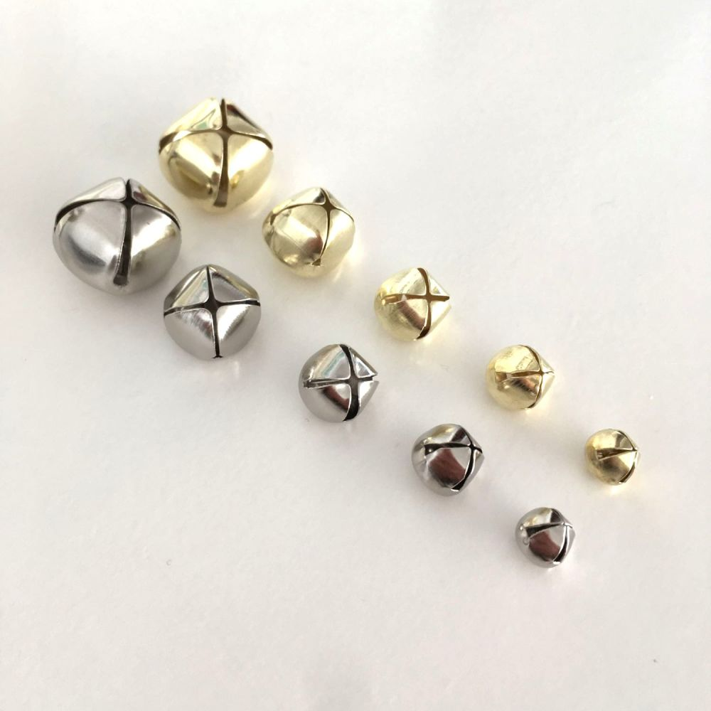 Jingle Bells / Cat Bells - Silver and Gold - 5 Sizes