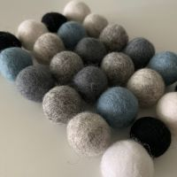 Monochrome Wool Felt Balls Mix (24)