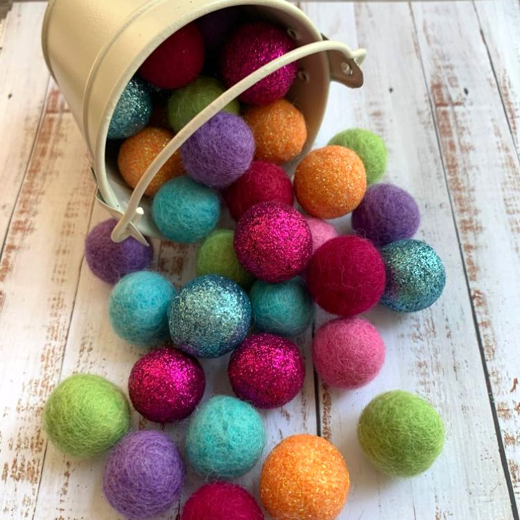 Glitter & Felt Ball Collections