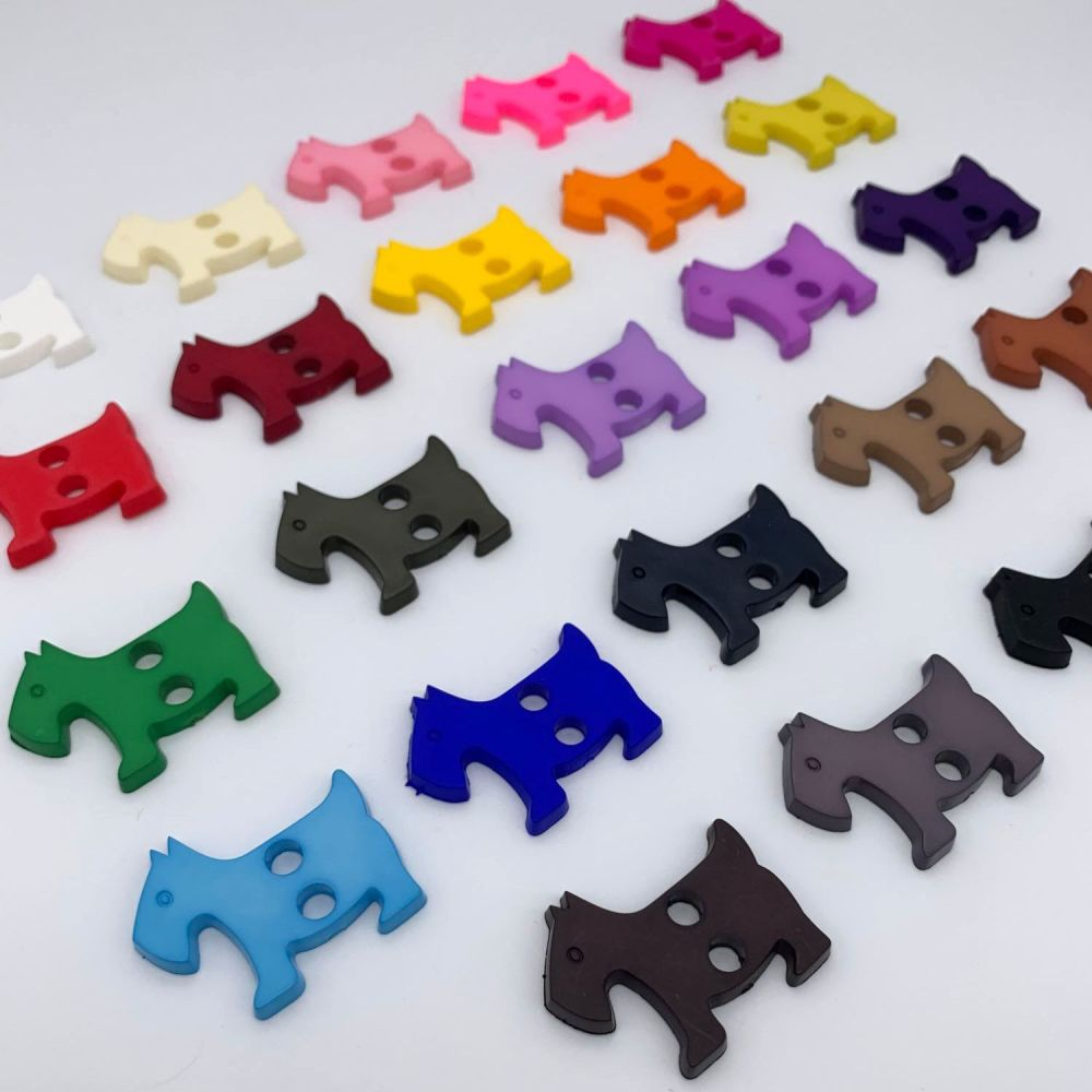 Dog Shaped Novelty Buttons