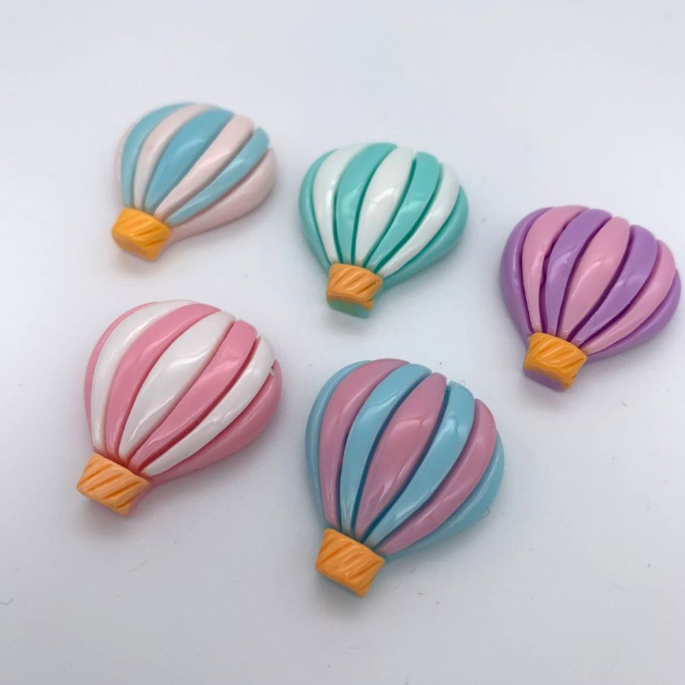 Hot Air Balloon Flatback Embellishments / Cabochons