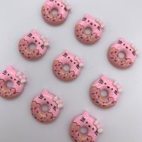 Kawaii Cute Kitty Doughnut Flatback Embellishments / Cabochons