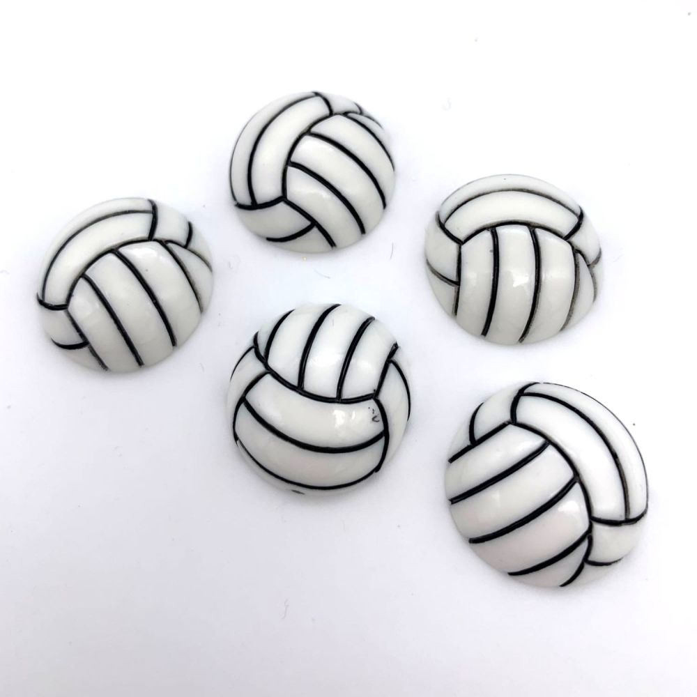 Volley Ball Flatback Embellishments / Cabochons