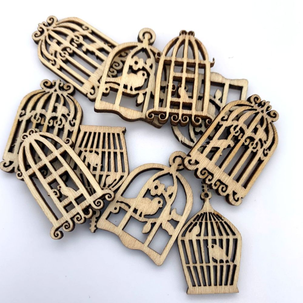 Mixed Wooden Birdcages (10 pack)