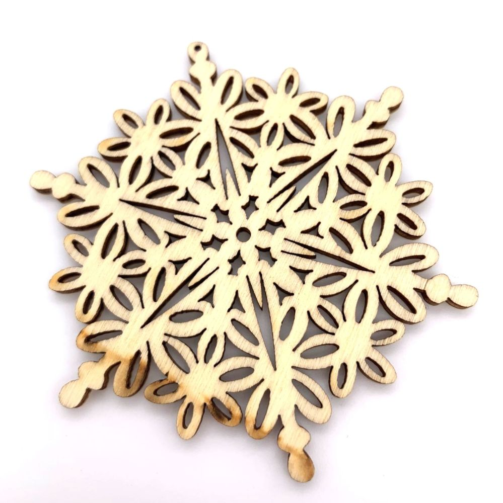 Wooden Christmas Snowflake Decorations