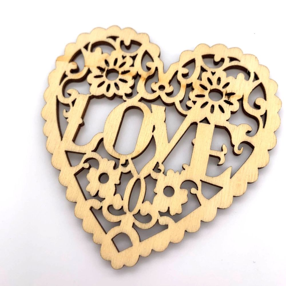 Wooden Love Heart Hanging Decorations