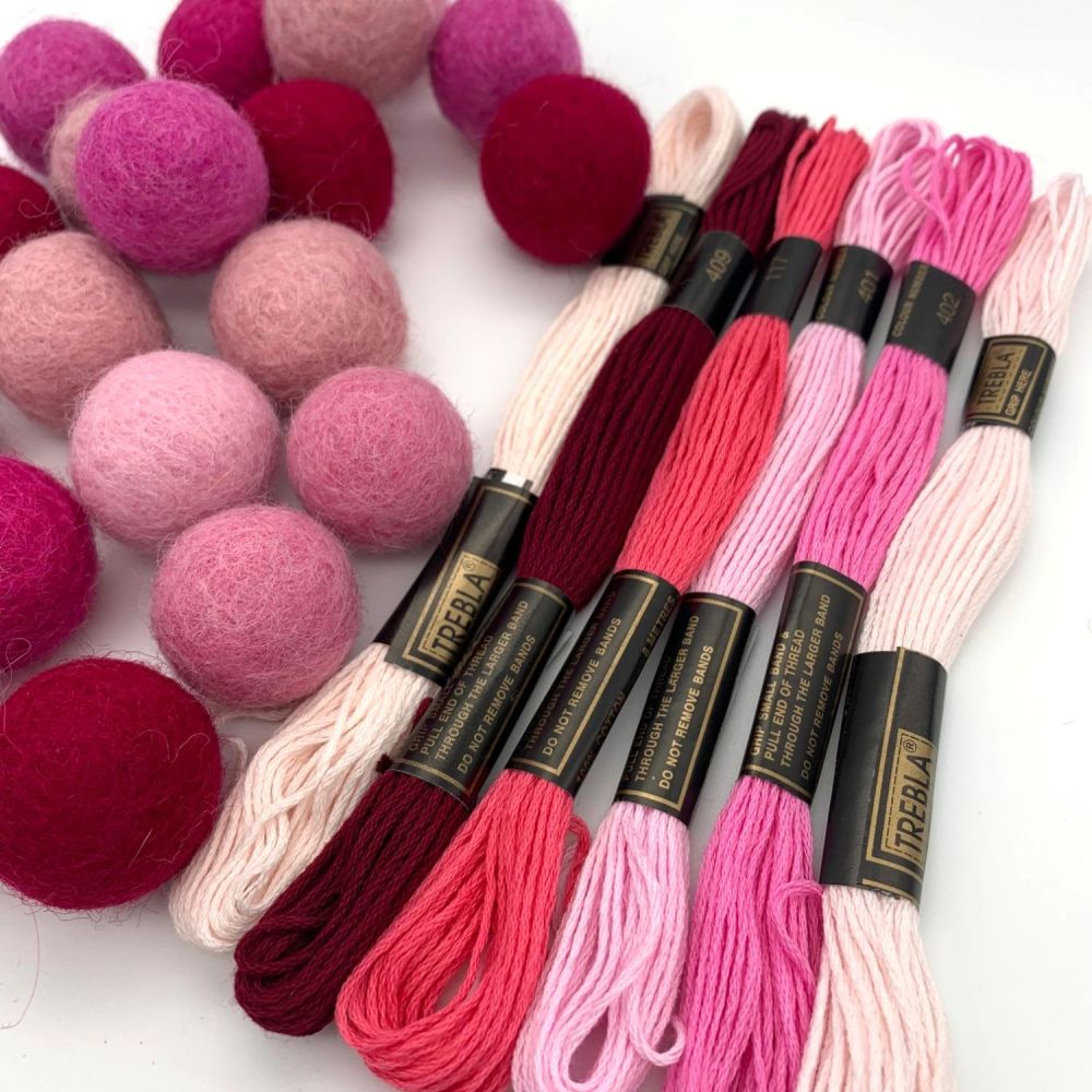 Pretty in Pinks Inspired Embroidery Thread Collection