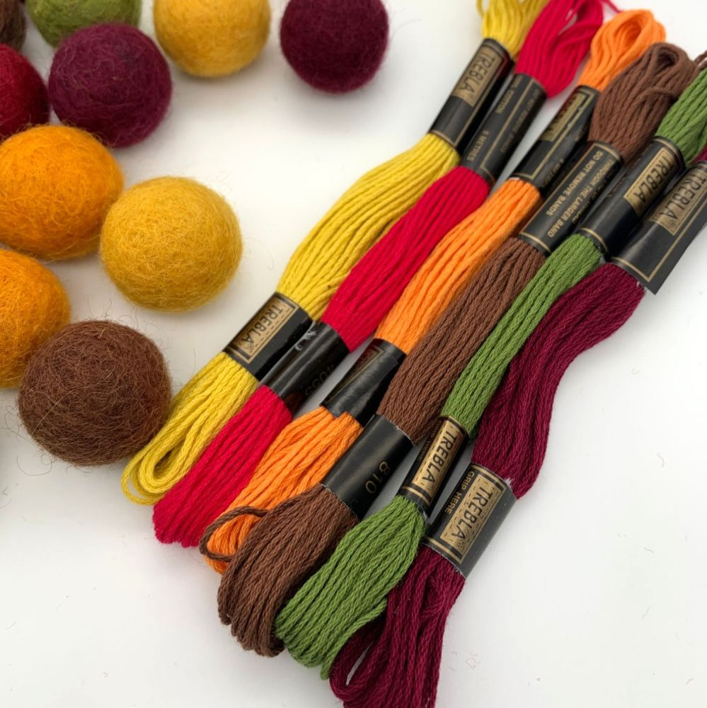 Autumn Inspired Embroidery Thread Collection