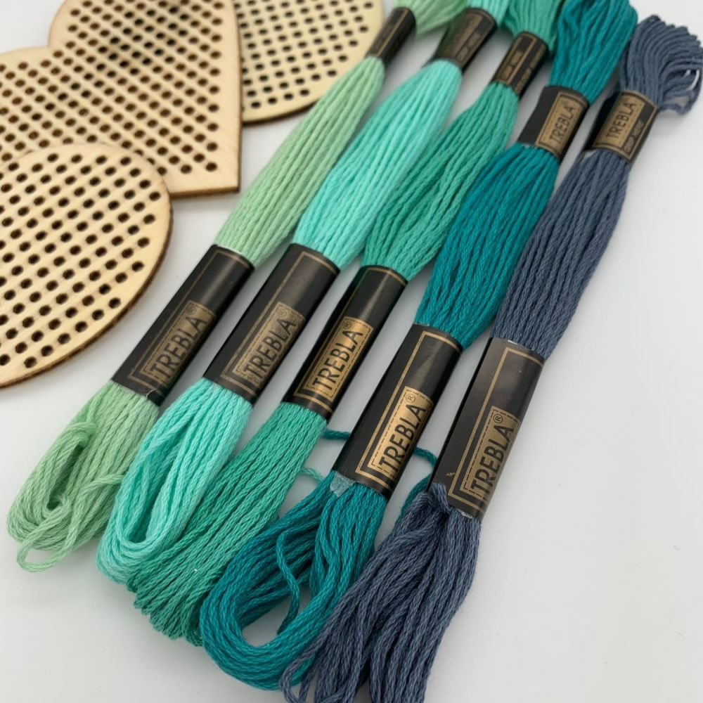 Embroidery Threads - Turquoise/Teals - Sold individually