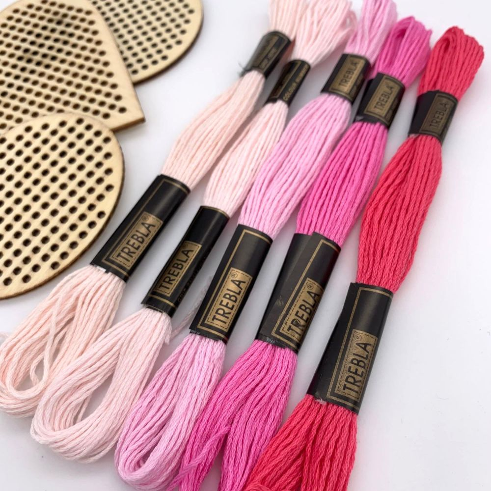 Embroidery Threads - Pinks - Sold individually
