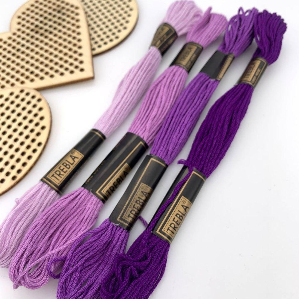 Embroidery Threads - Purples/Lilacs - Sold individually