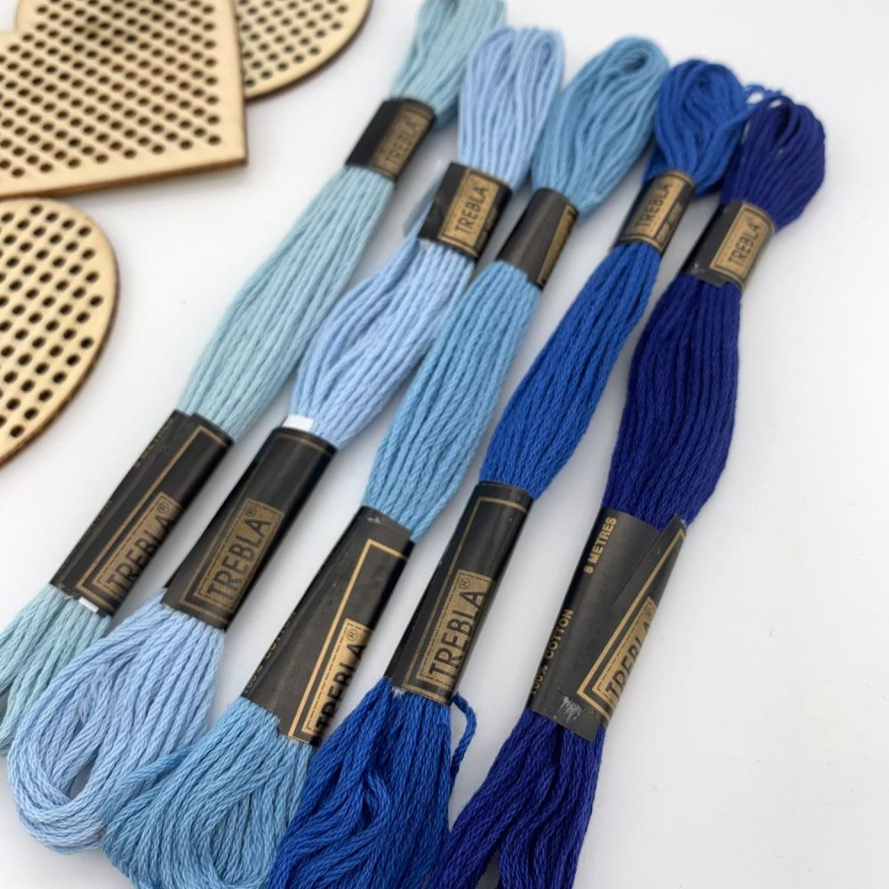 Embroidery Threads - Blues - Sold individually