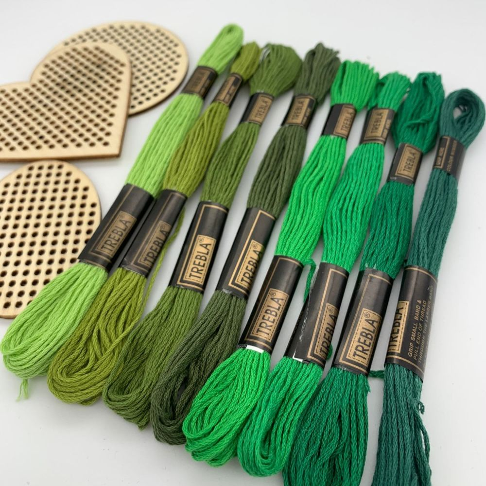 Embroidery Threads - Greens - Sold individually
