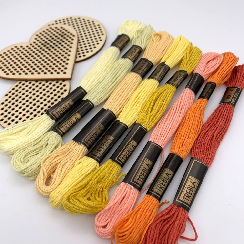 Embroidery Threads - Yellows/Oranges - Sold individually