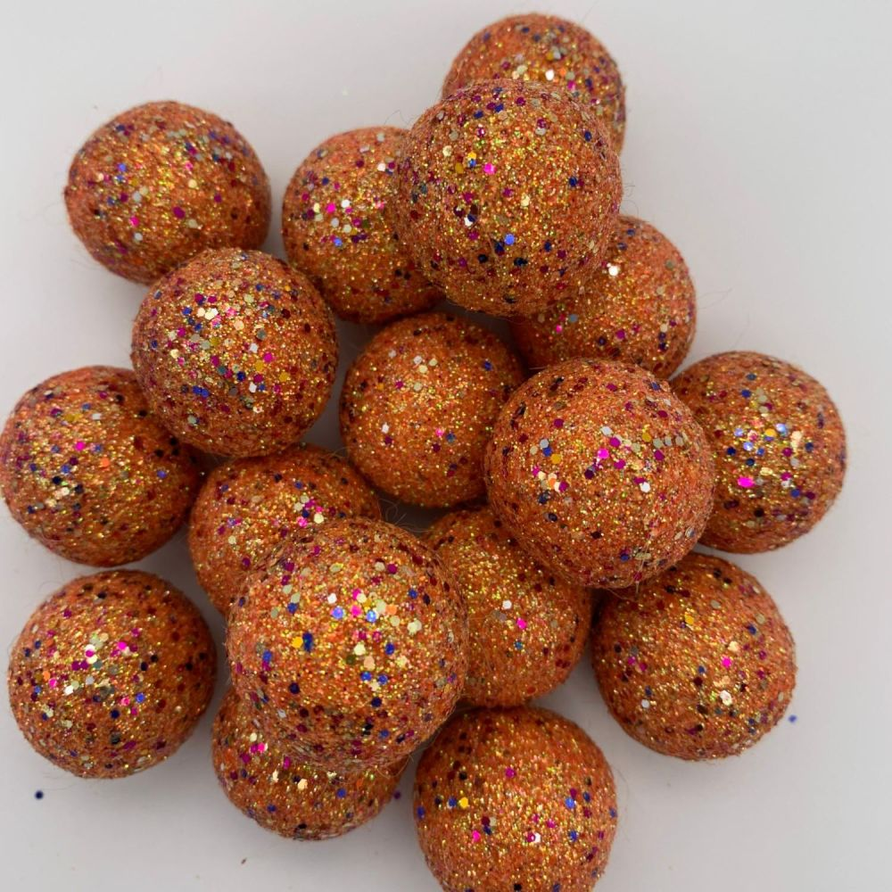 Tropical Orange - Special Edition Glitter Felt Balls