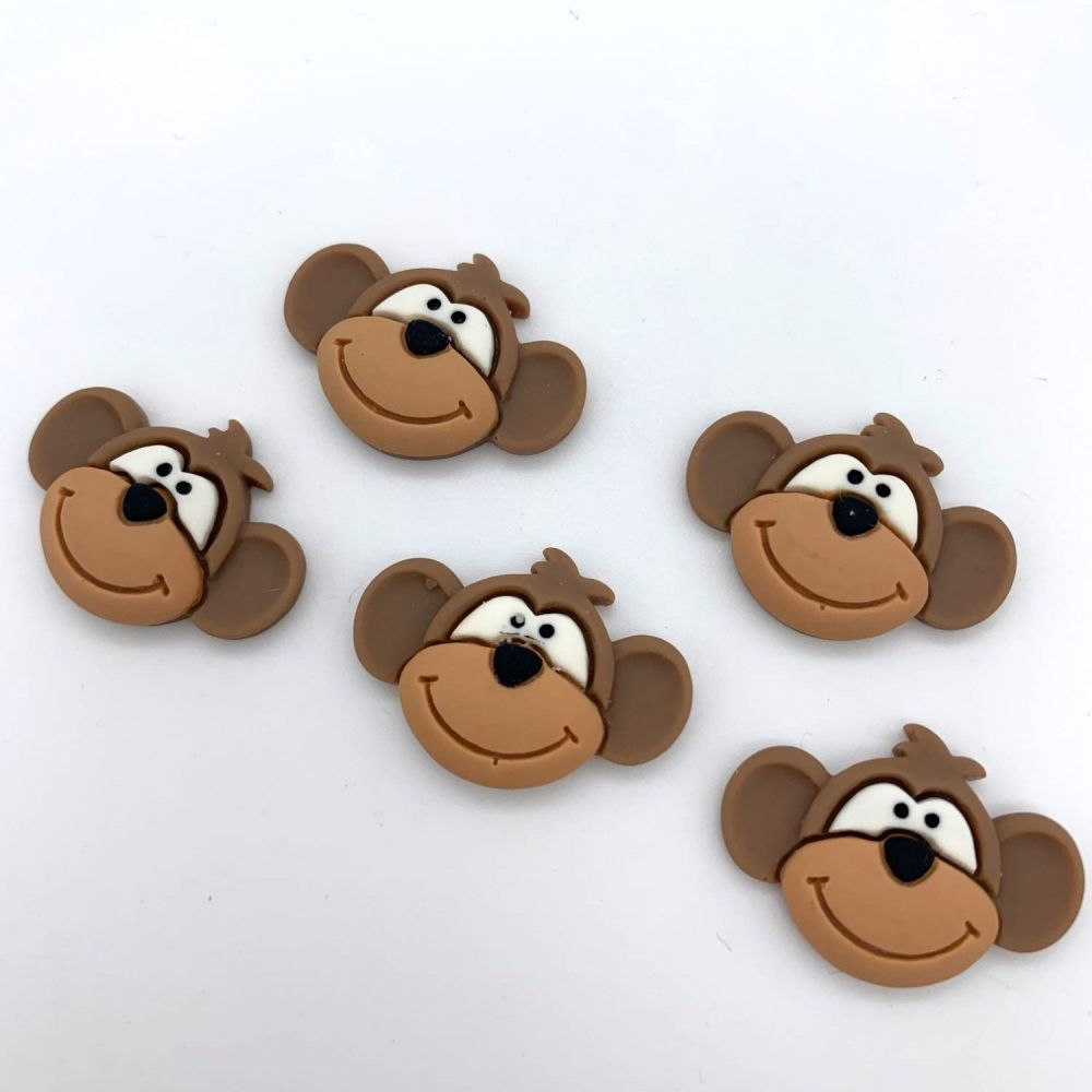 Kawaii Monkeys - Flatback Embellishments / Cabochons