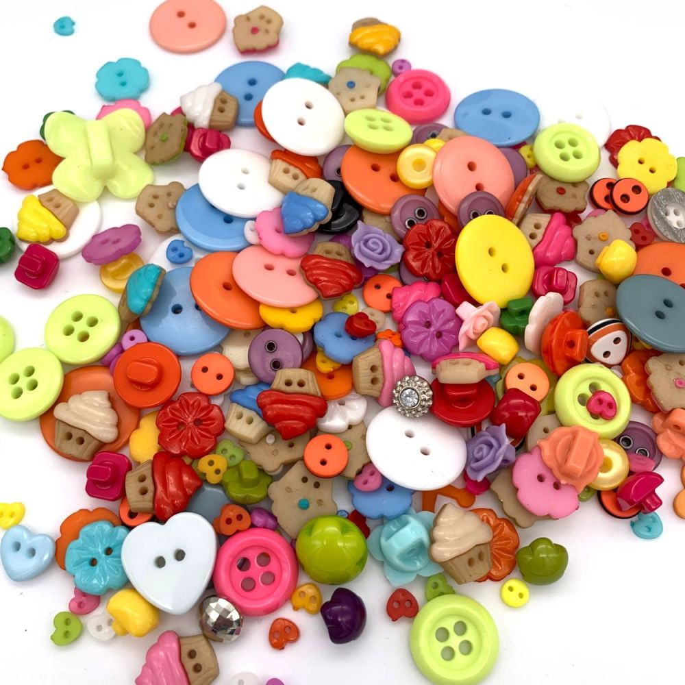 50g Assorted 'Super Fun' Button Mix
