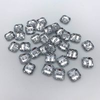 Acrylic Diamante Square Buttons 11mm