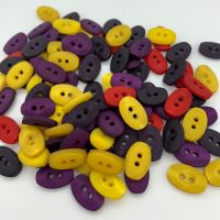 Oval Shaped Buttons - 5 colours