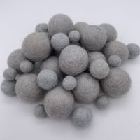 100% Wool Felt Balls - Cloud Grey