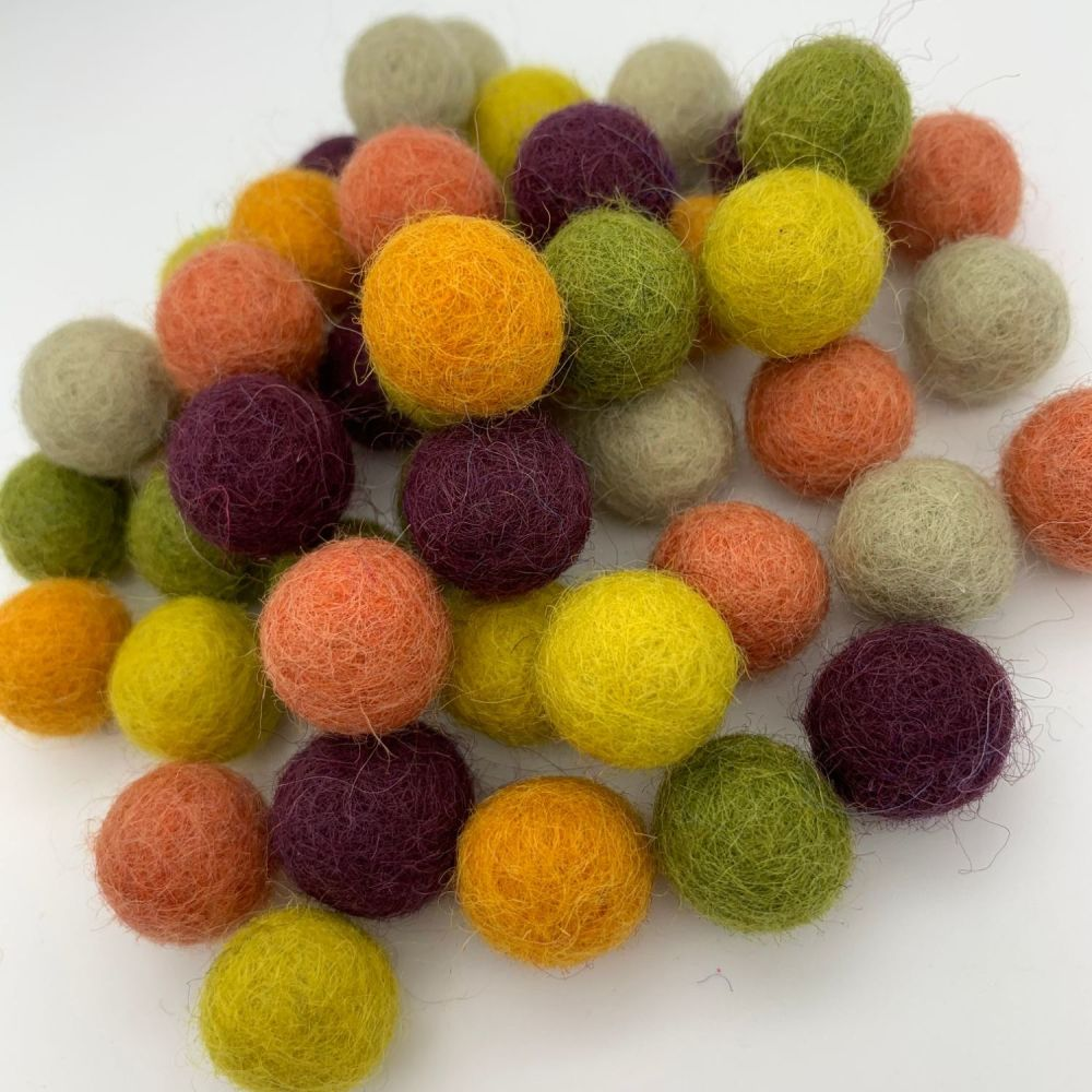 Mother Earth Wool Felt Balls Mix (24)