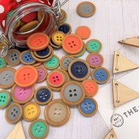 Wooden Rim Effect Buttons