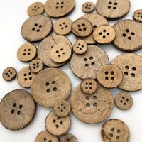 4 Hole Coconut Shell Buttons - 3 Sizes Available