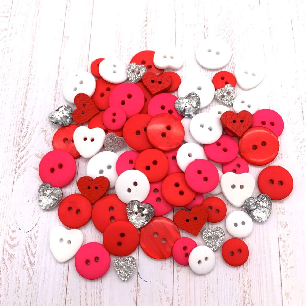 Be My Valentine Button collection