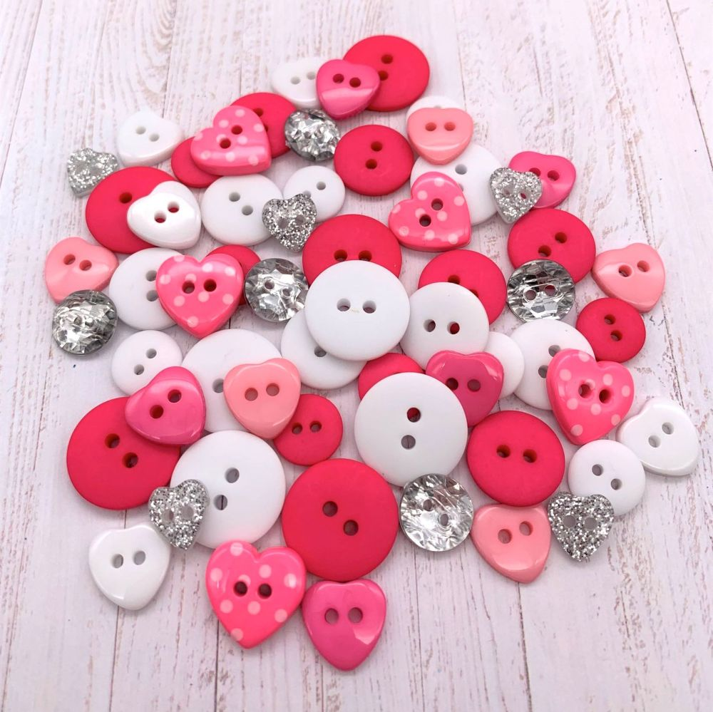Pink Valentine Button collection