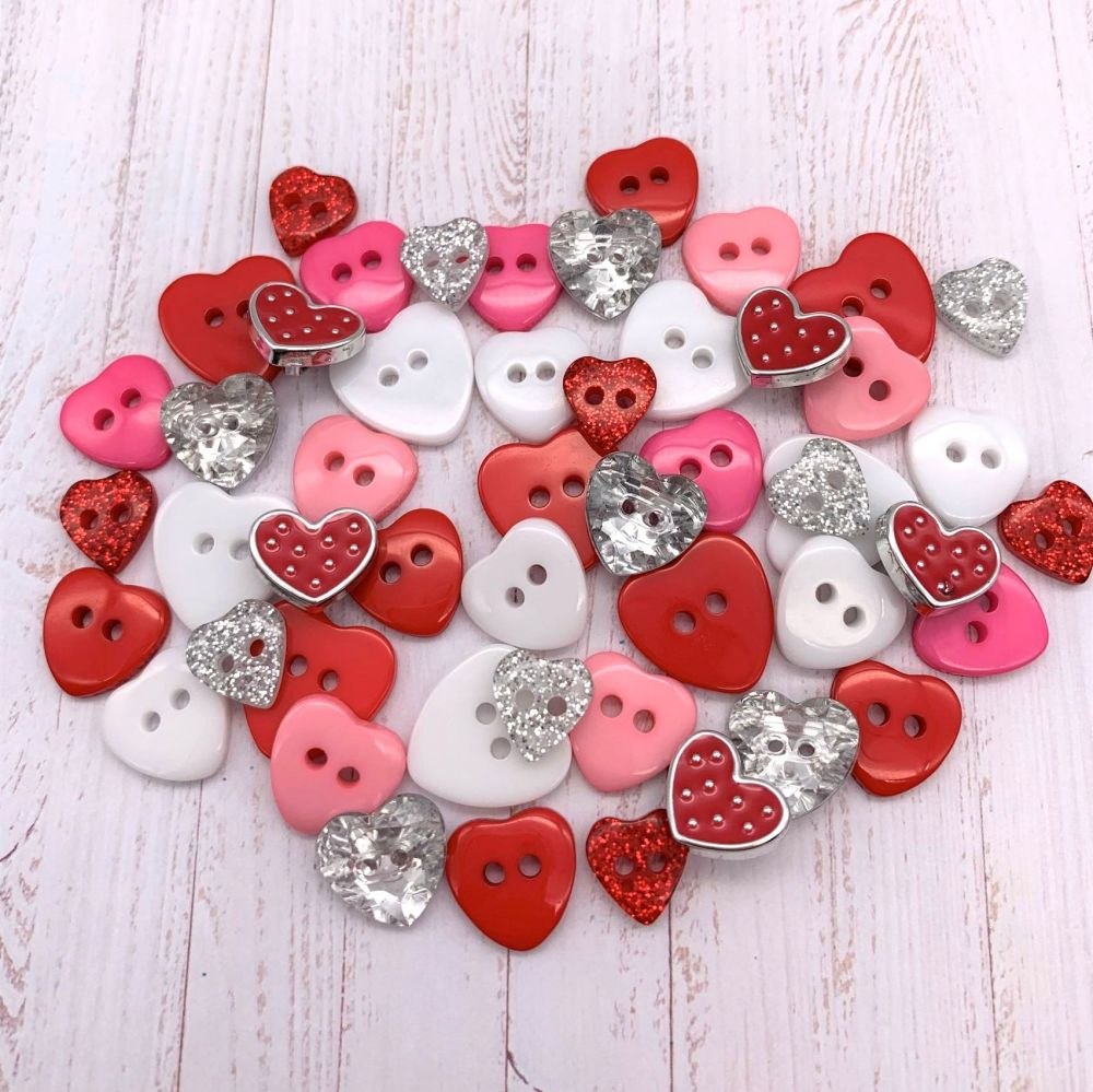 Valentine Hearts Button collection