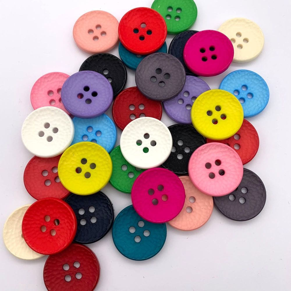 25mm Hammer Texture Buttons - 16 colours