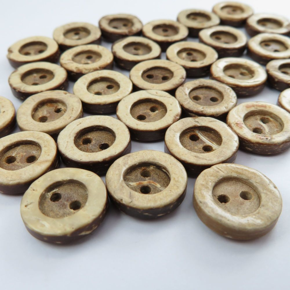 13mm Single Rim Coconut Shell Buttons