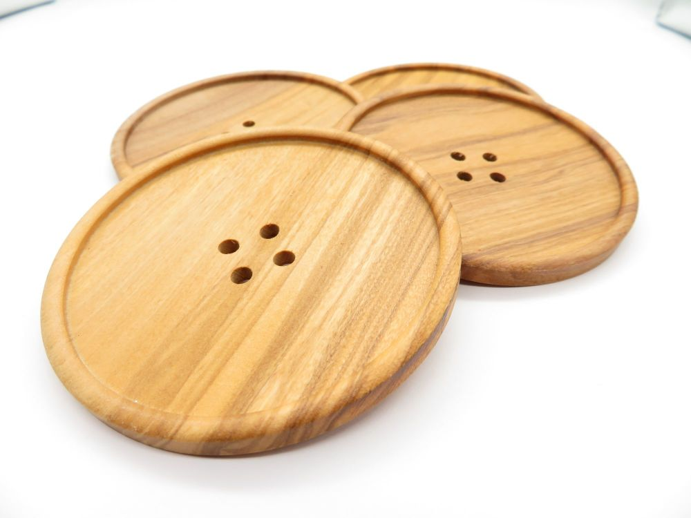 Huge Olive Wood Statement Buttons 77mm