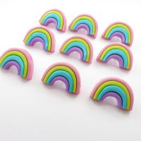 Pastel rainbow shaped shank buttons