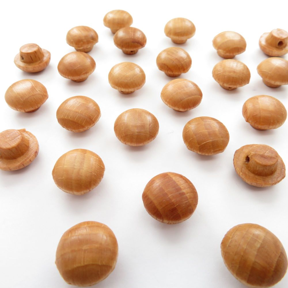 13mm Natural Maple Wood Shank Buttons