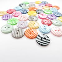 15mm Striped Buttons