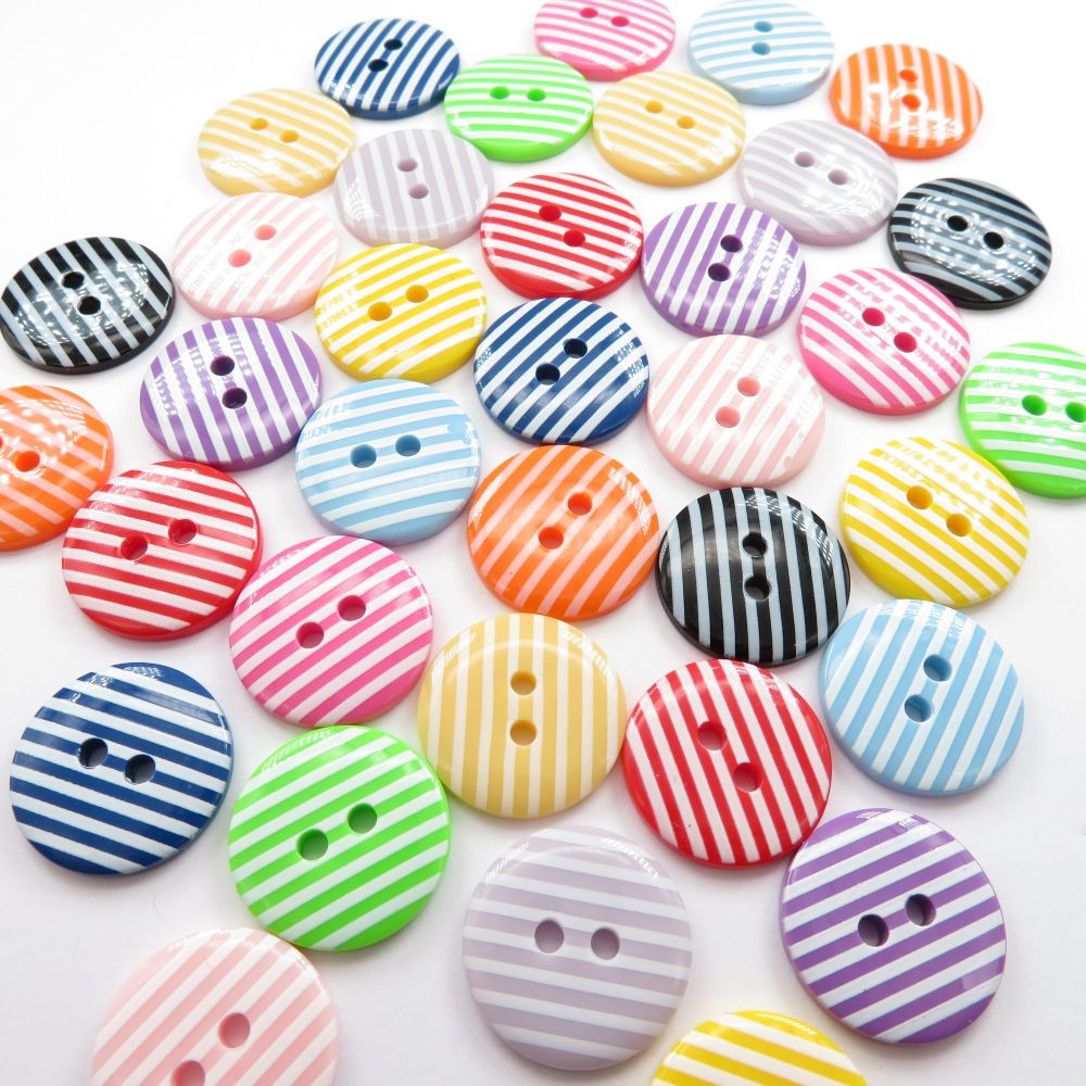 18mm Striped Buttons
