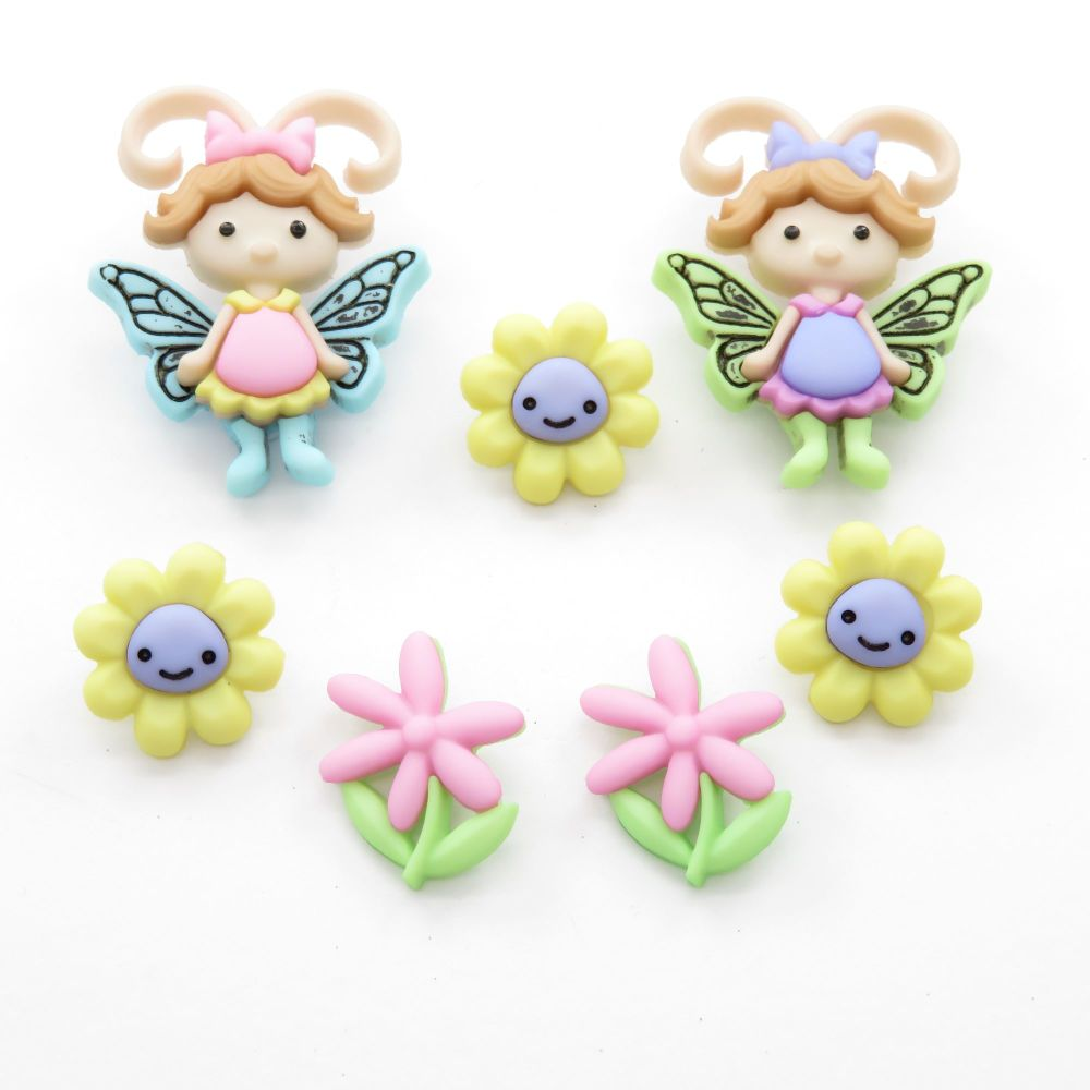 Dress It Up Button Pack - Flutter Bugs