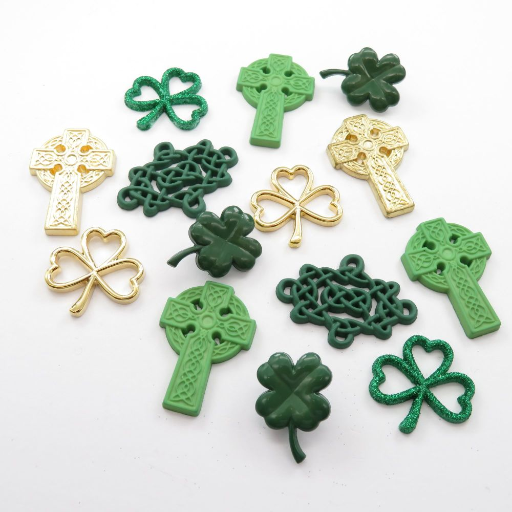Dress It Up Buttons - Erin Go Bragh / St Patricks Day