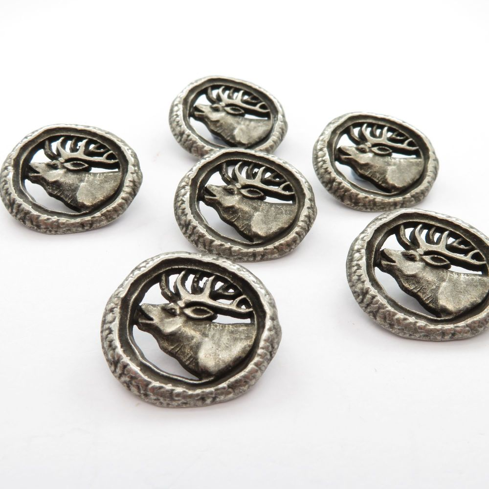 Metal Stag Shank Buttons