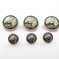 Horse Head Metal Buttons - 2 Sizes Available