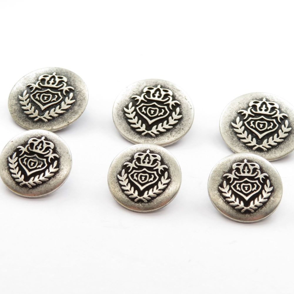 Coat of Arms Metal Shank Buttons