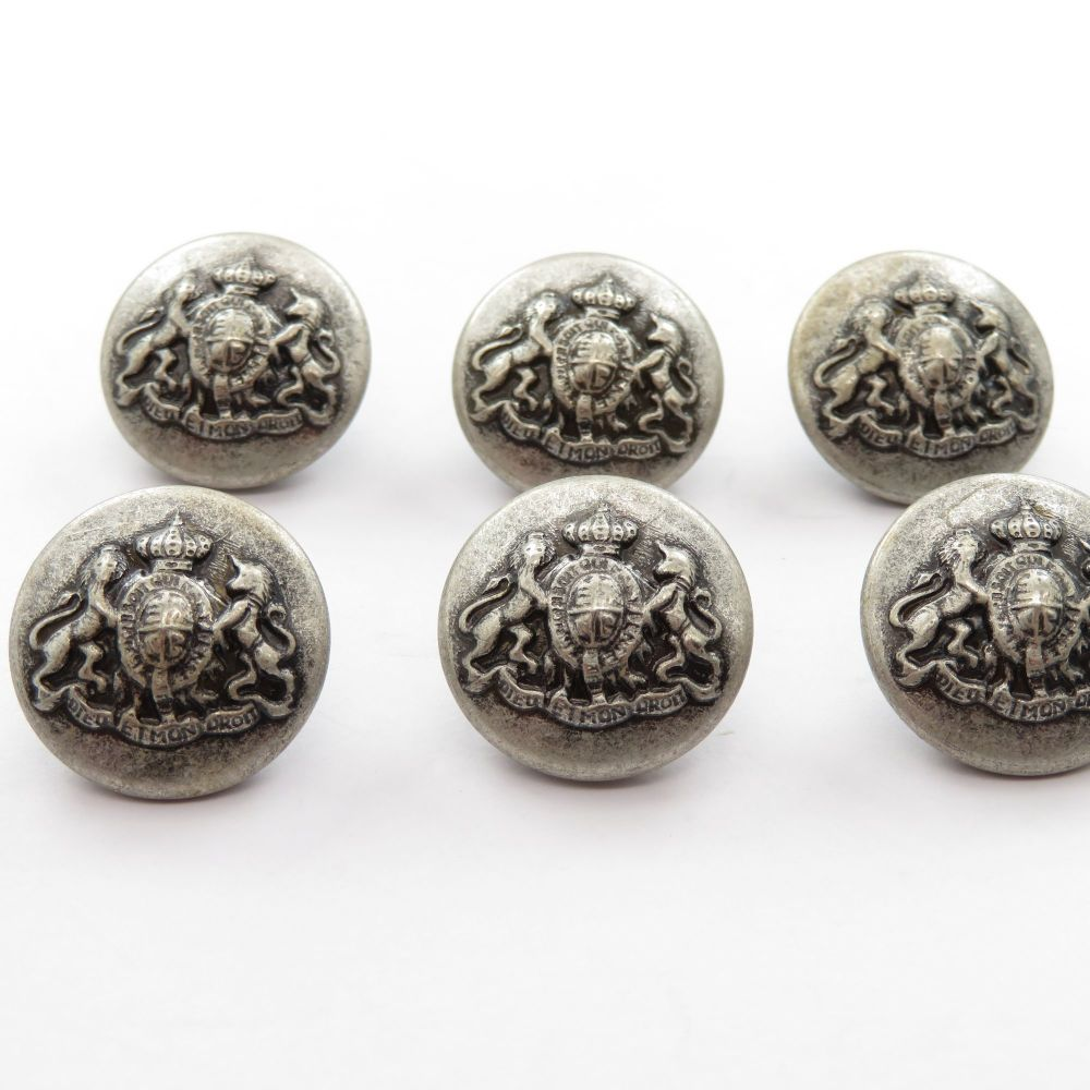 Coat of Arms Metal Shank Buttons 18mm